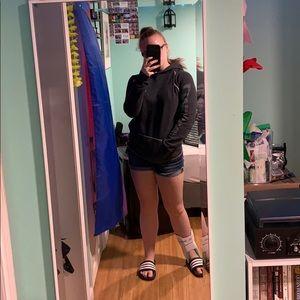 Dark Grey Sweatshirt With Hood